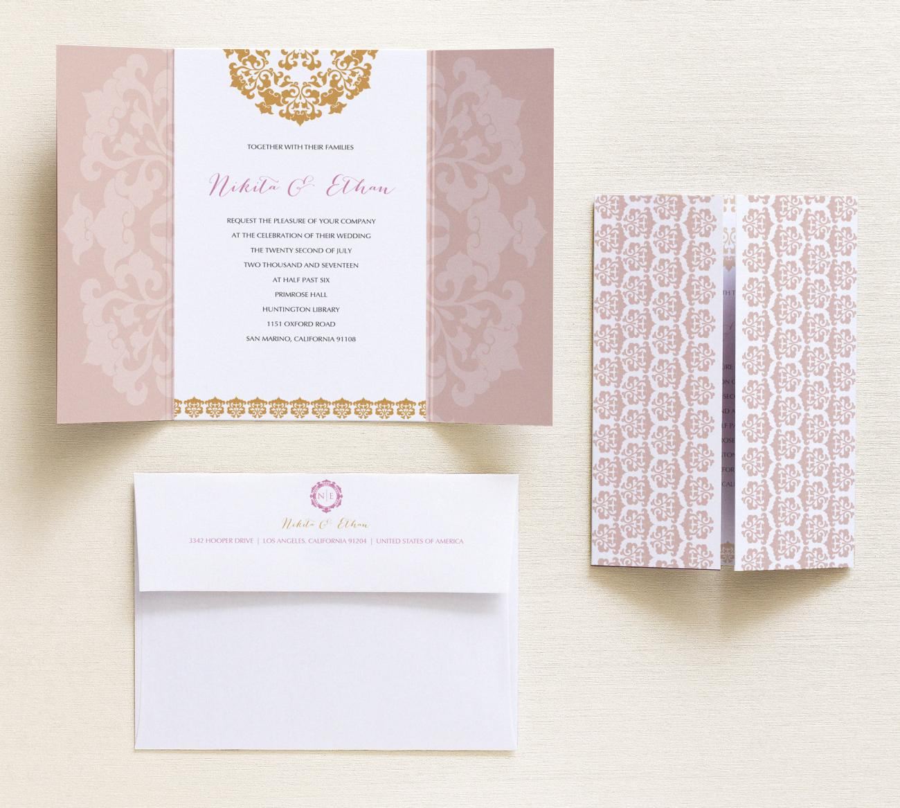 Invitation + Envelope | Surya Gatefold