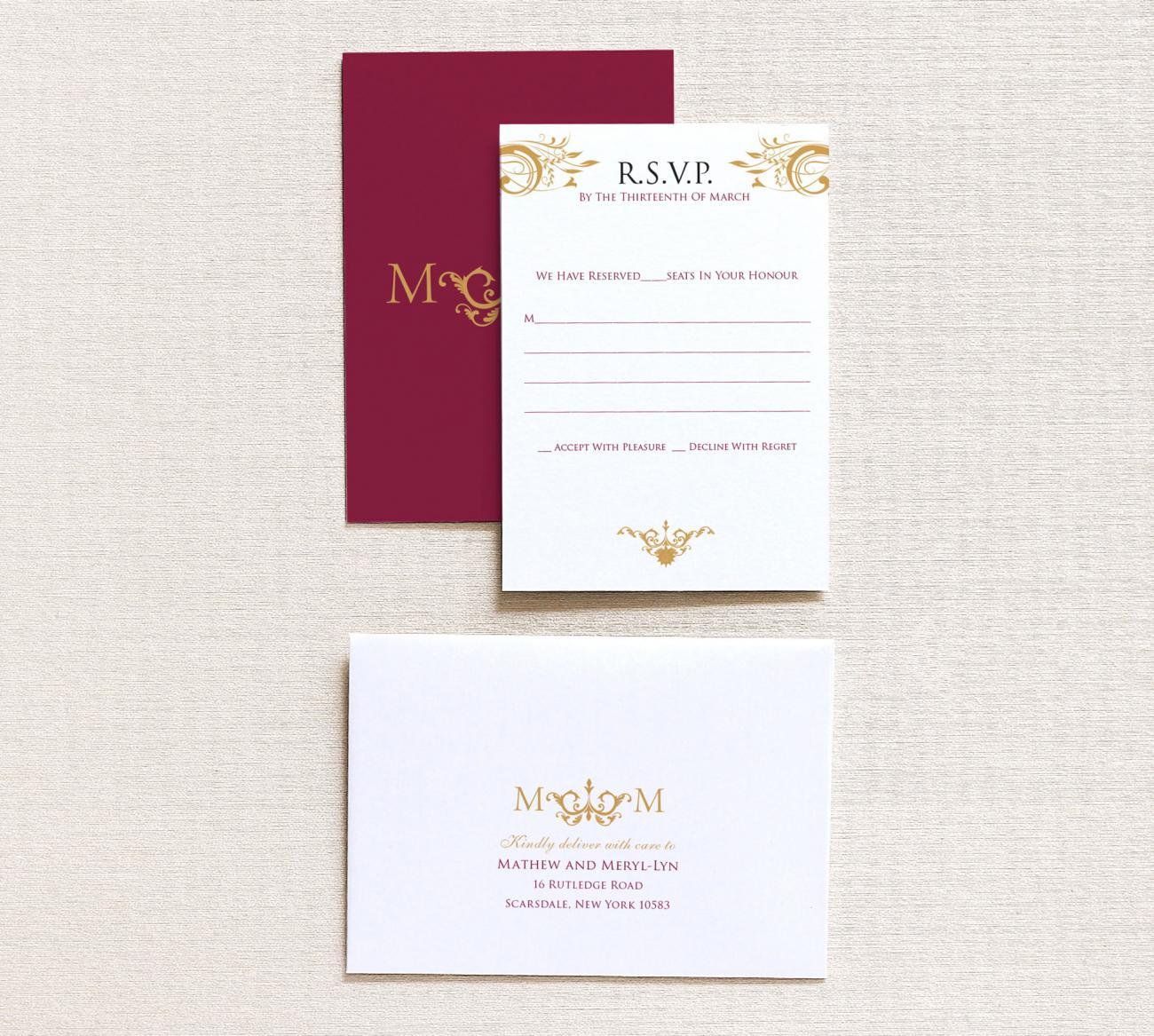 Reply Card | Majesty Gatefold
