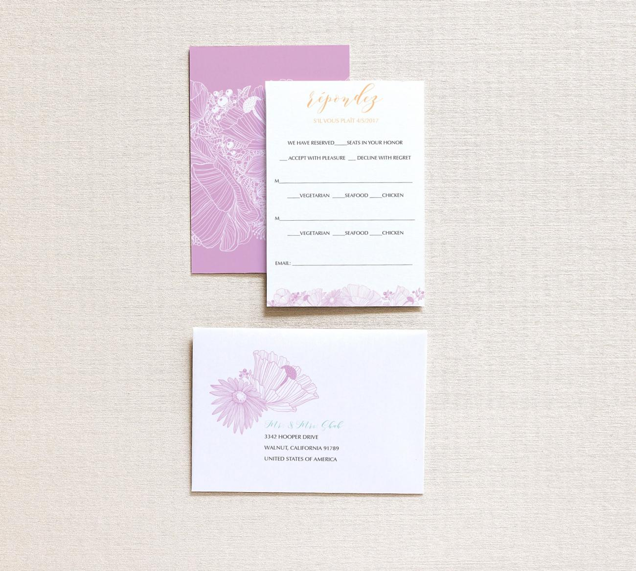 Reply Envelope | Flora Gatefold