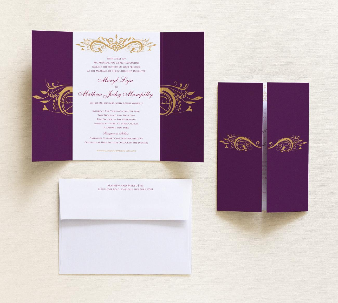 Invitation + Envelope | Majesty Gatefold
