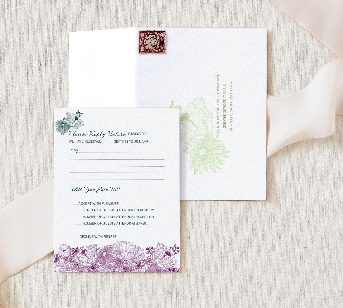 Reply Envelope | Flora Duet