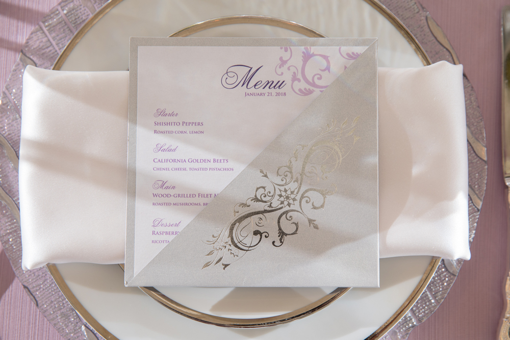 Menu Card with Pocket | Majesty Duet