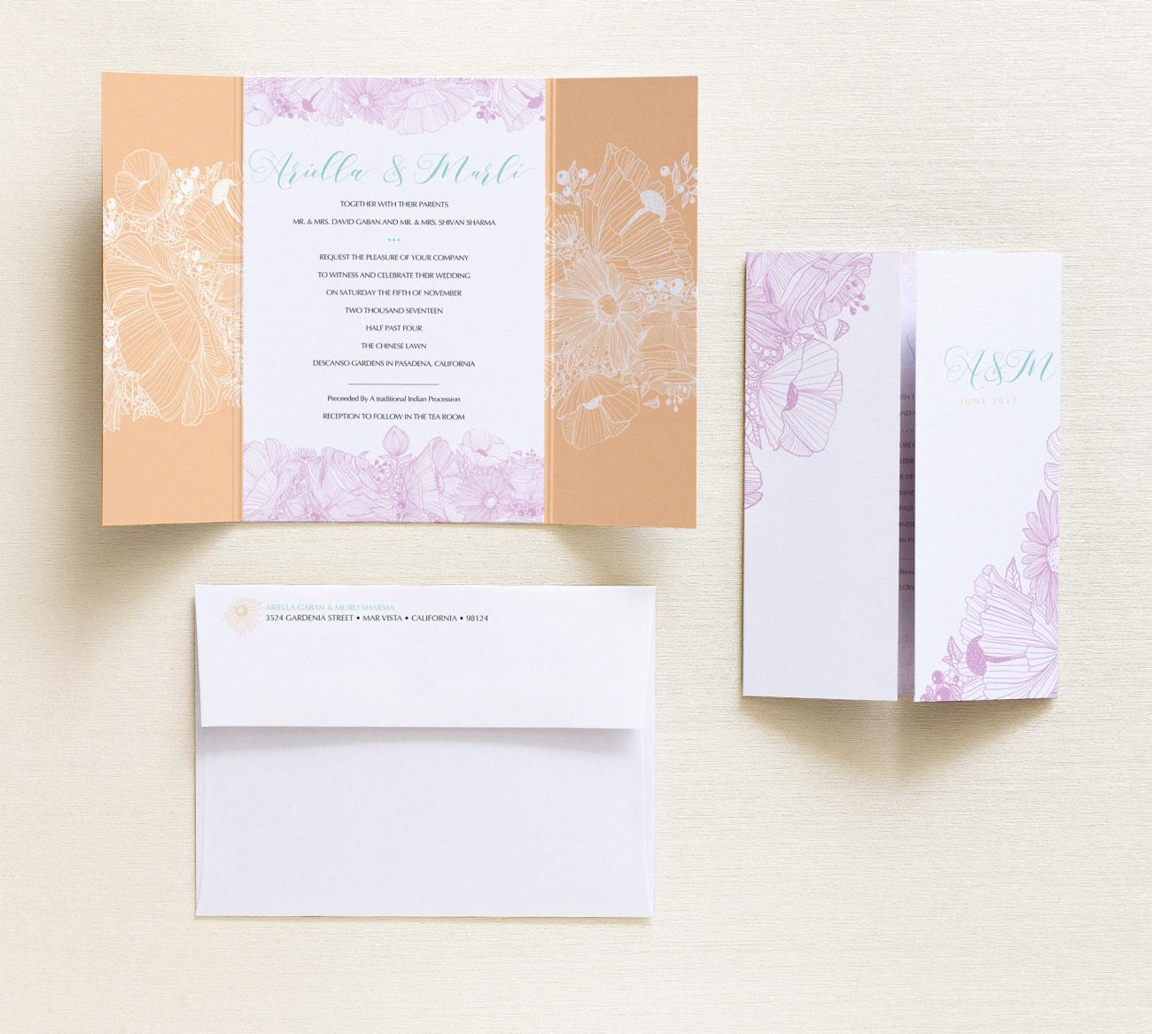 Invitation | Flora Gatefold