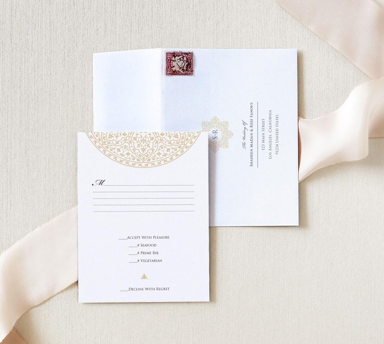 Reply Card | Cordoba Duet