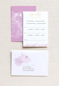 Reply Card | Flora Gatefold