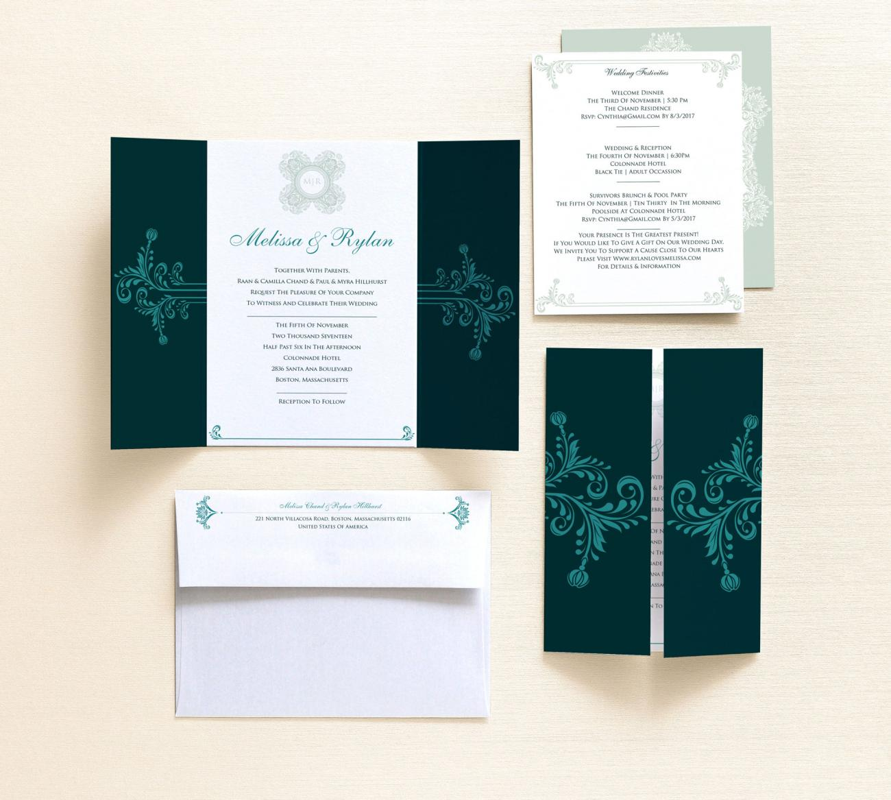 4 Piece Package | Botanic Gatefold