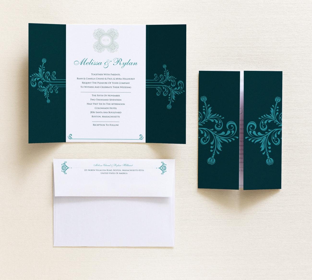 Invitation | Botanic Gatefold