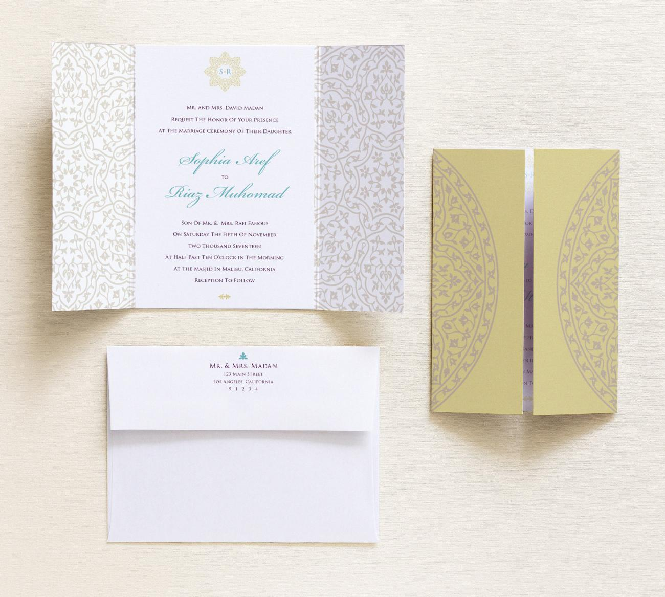 Invitation + Envelope | Cordoba Gatefold